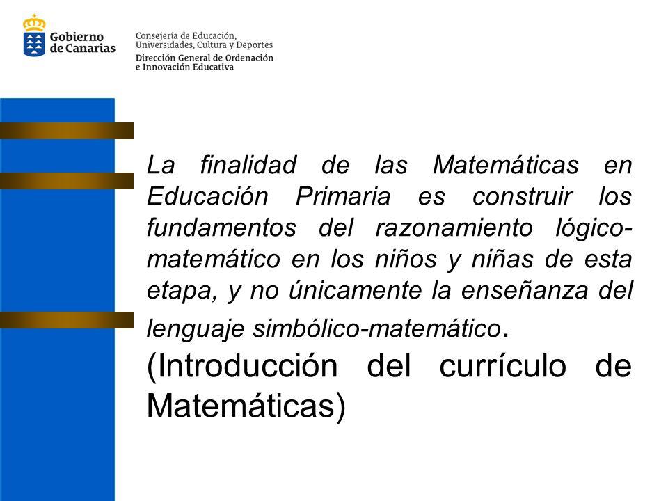 (Introducción del currículo de Matemáticas)
