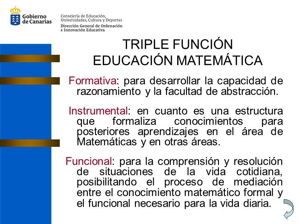 TRIPLE FUNCIÓN EDUCACIÓN MATEMÁTICA