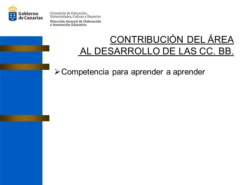 AL DESARROLLO DE LAS CC. BB.