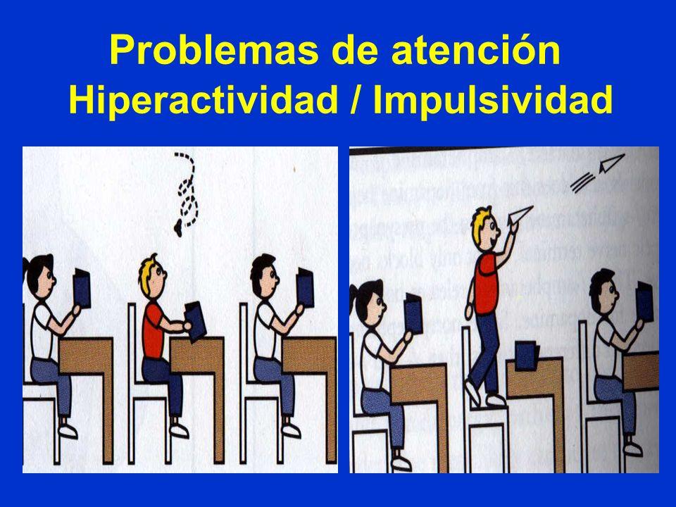 Problemas de atención Hiperactividad / Impulsividad