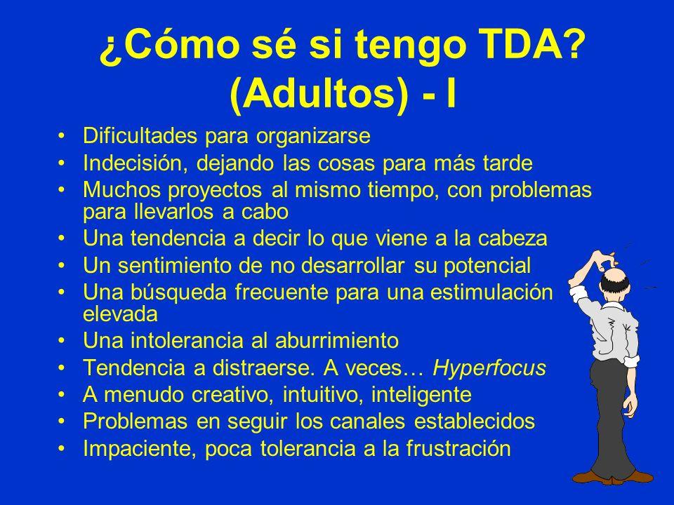 ¿Cómo sé si tengo TDA (Adultos) - I