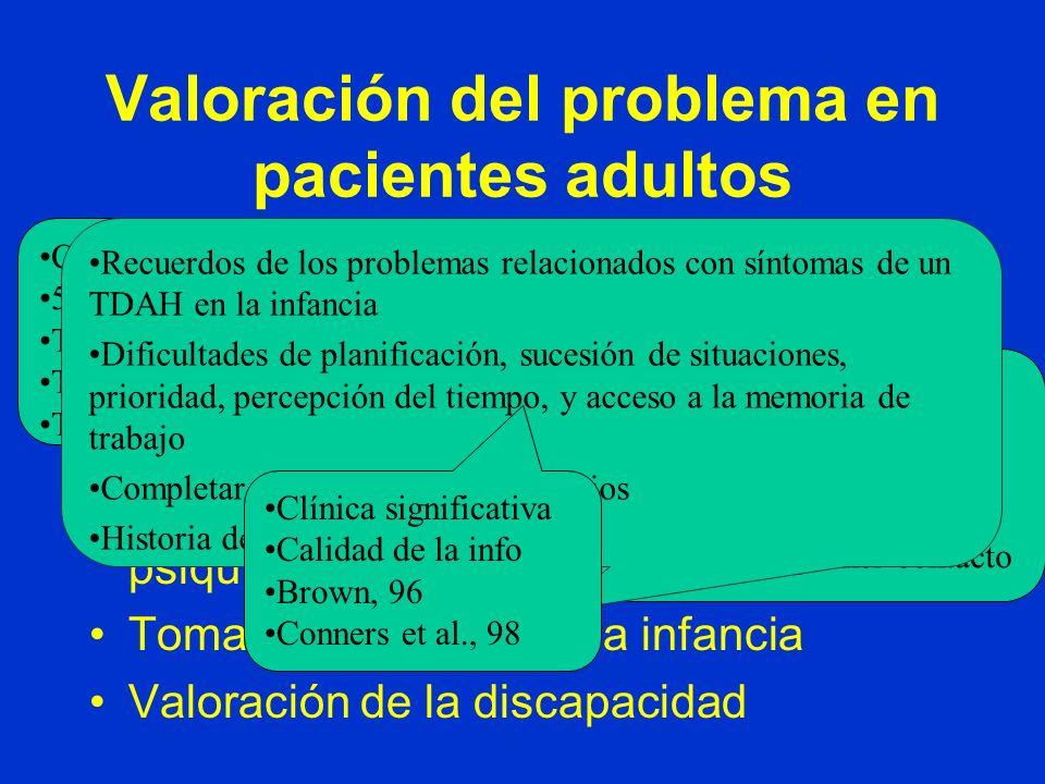 Valoración del problema en pacientes adultos