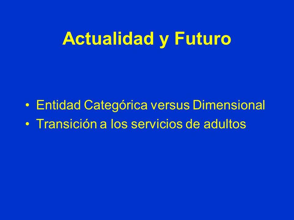 Actualidad y Futuro Entidad Categórica versus Dimensional