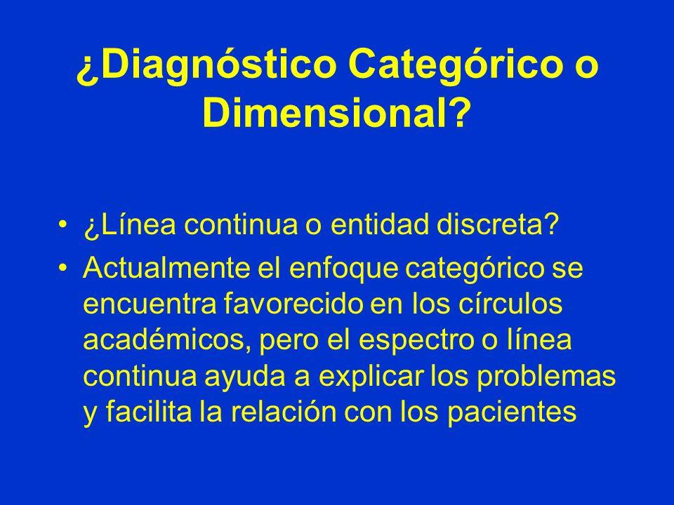 ¿Diagnóstico Categórico o Dimensional