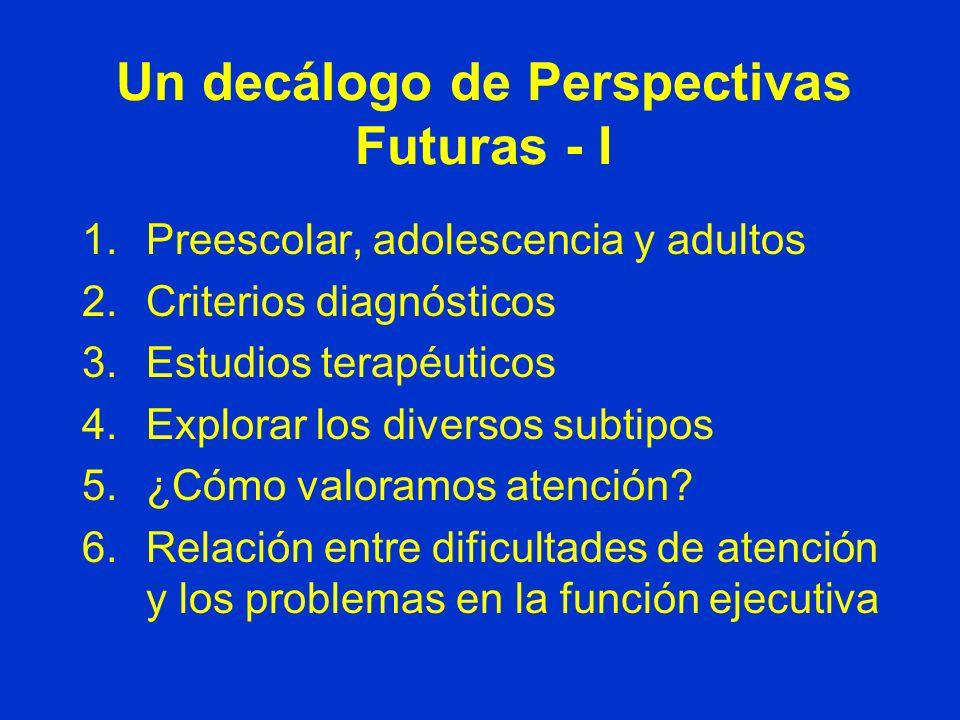Un decálogo de Perspectivas Futuras - I