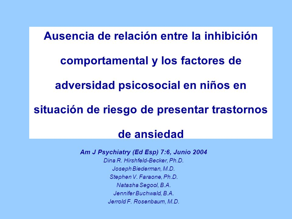 Am J Psychiatry (Ed Esp) 7:6, Junio 2004