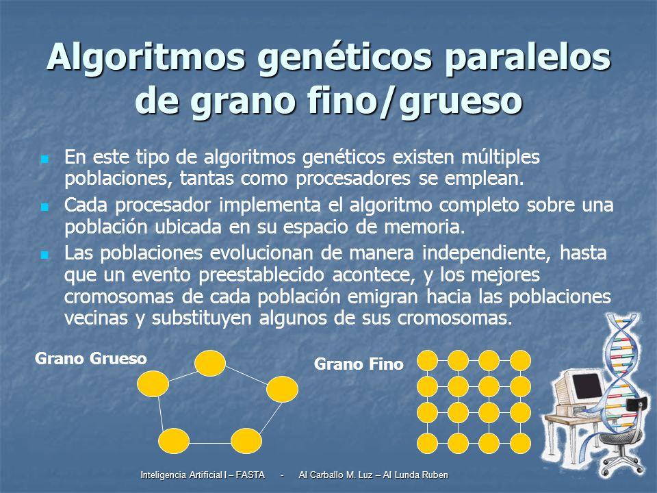 Algoritmos genéticos paralelos de grano fino/grueso