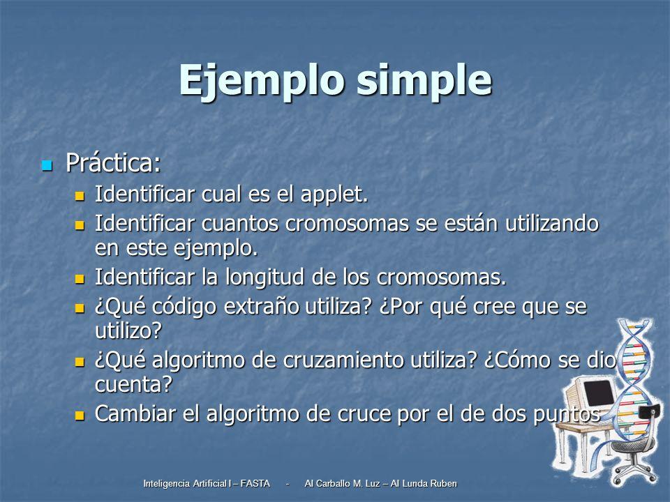 Ejemplo simple Práctica: Identificar cual es el applet.