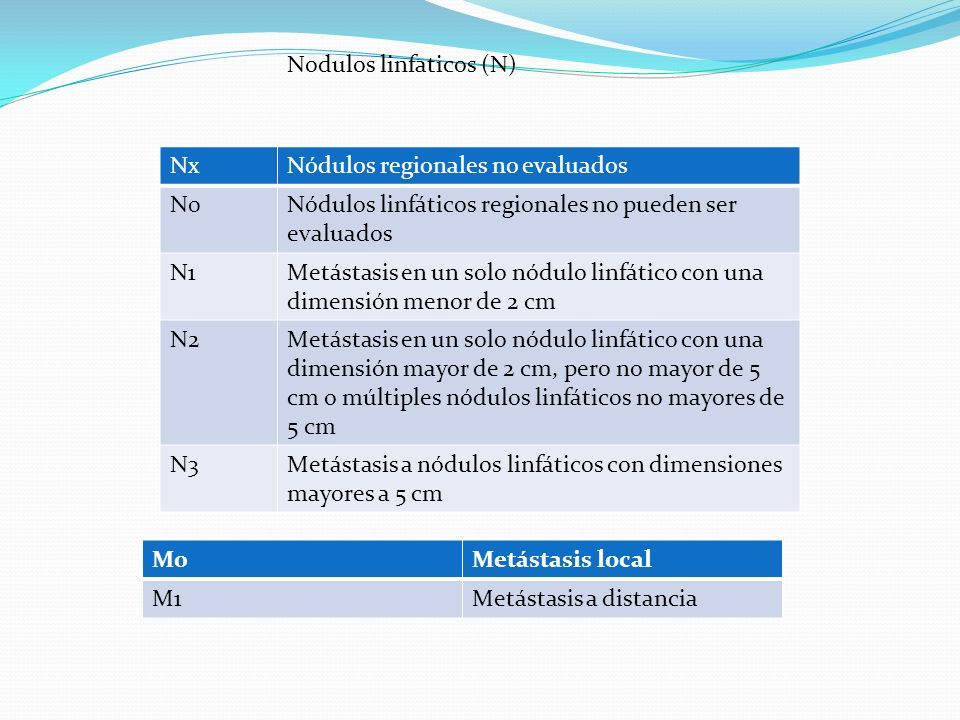 Nodulos linfaticos (N)