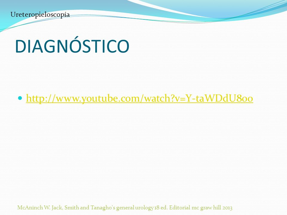DIAGNÓSTICO http://www.youtube.com/watch v=Y-taWDdU8oo