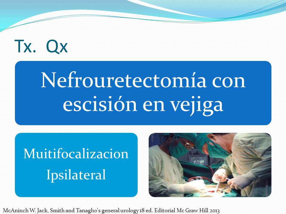 Nefrouretectomía con escisión en vejiga