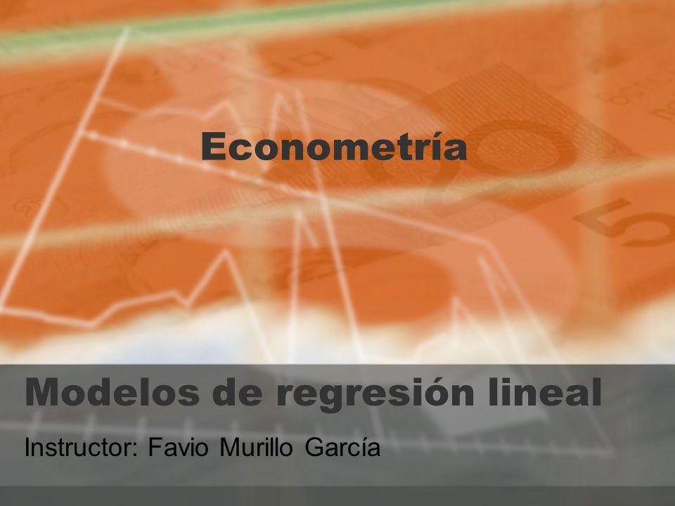 Modelos de regresión lineal