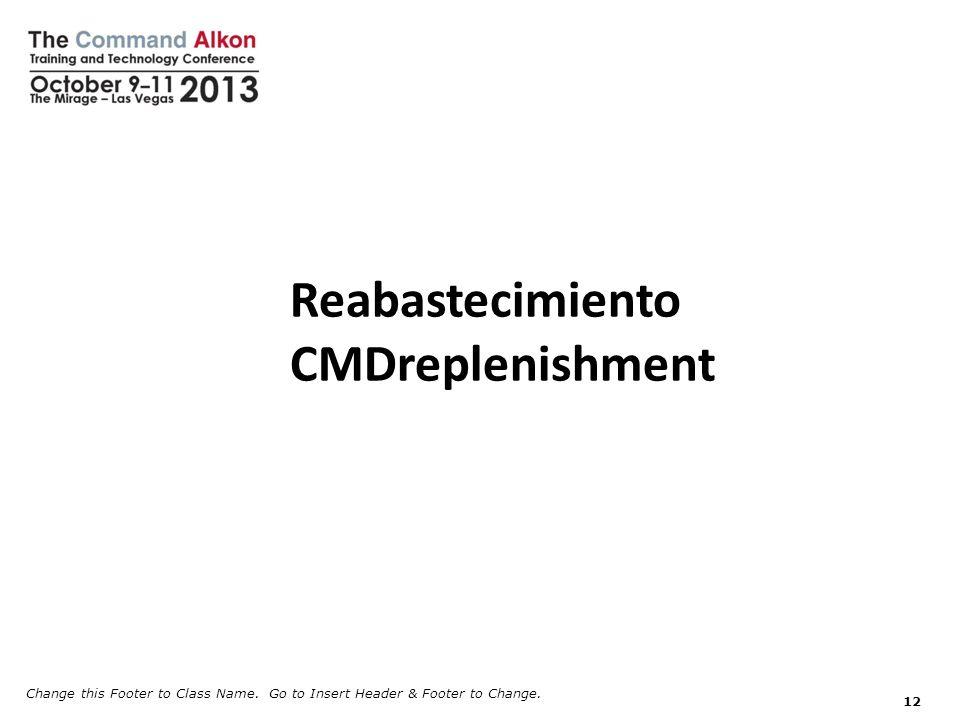 Reabastecimiento CMDreplenishment