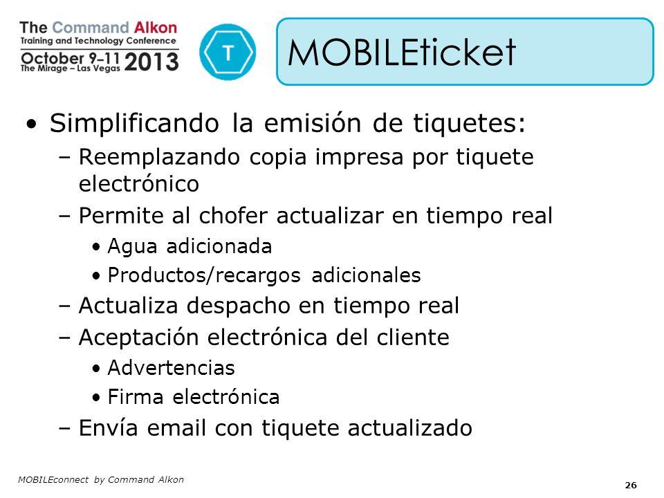 MOBILEticket Simplificando la emisión de tiquetes: