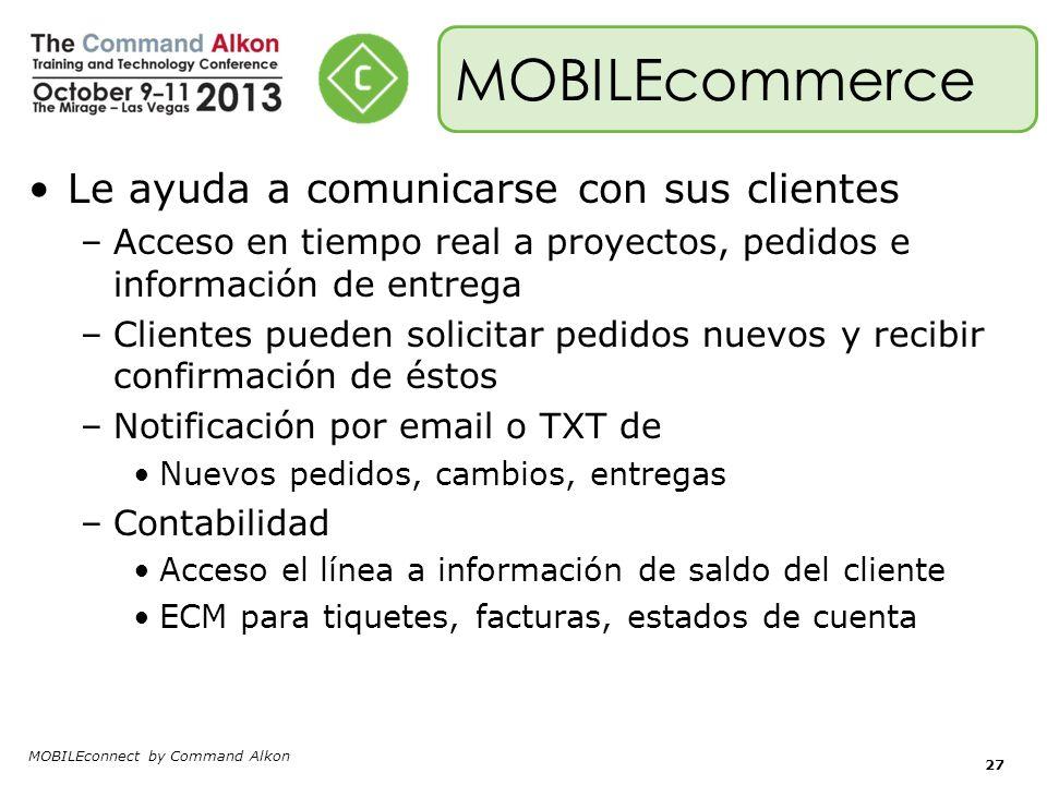 MOBILEcommerce Le ayuda a comunicarse con sus clientes