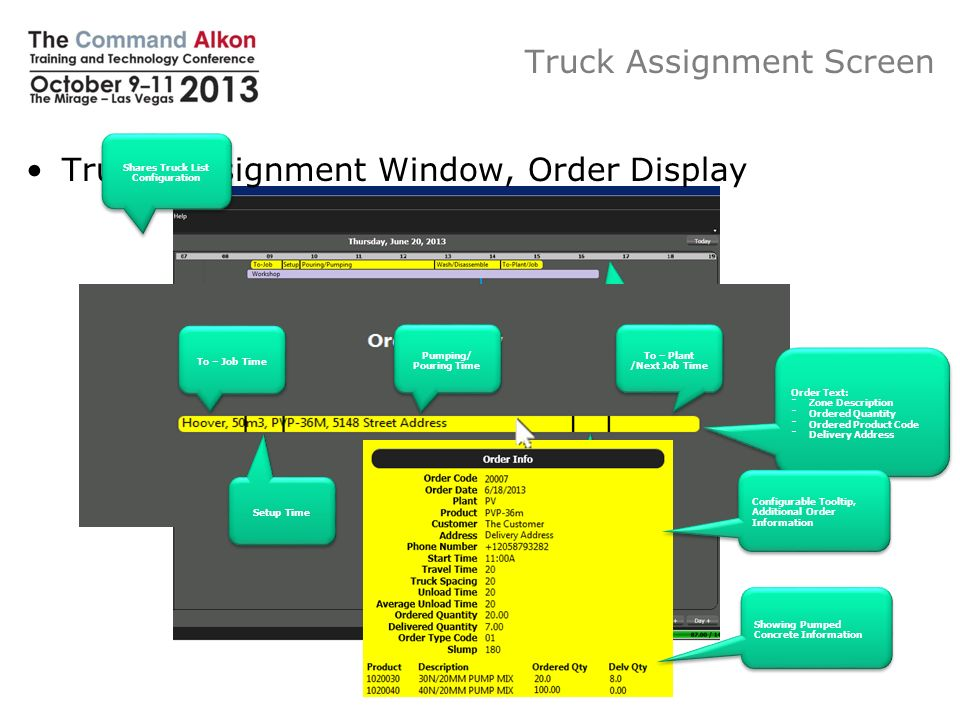 Truck Assignment Screen