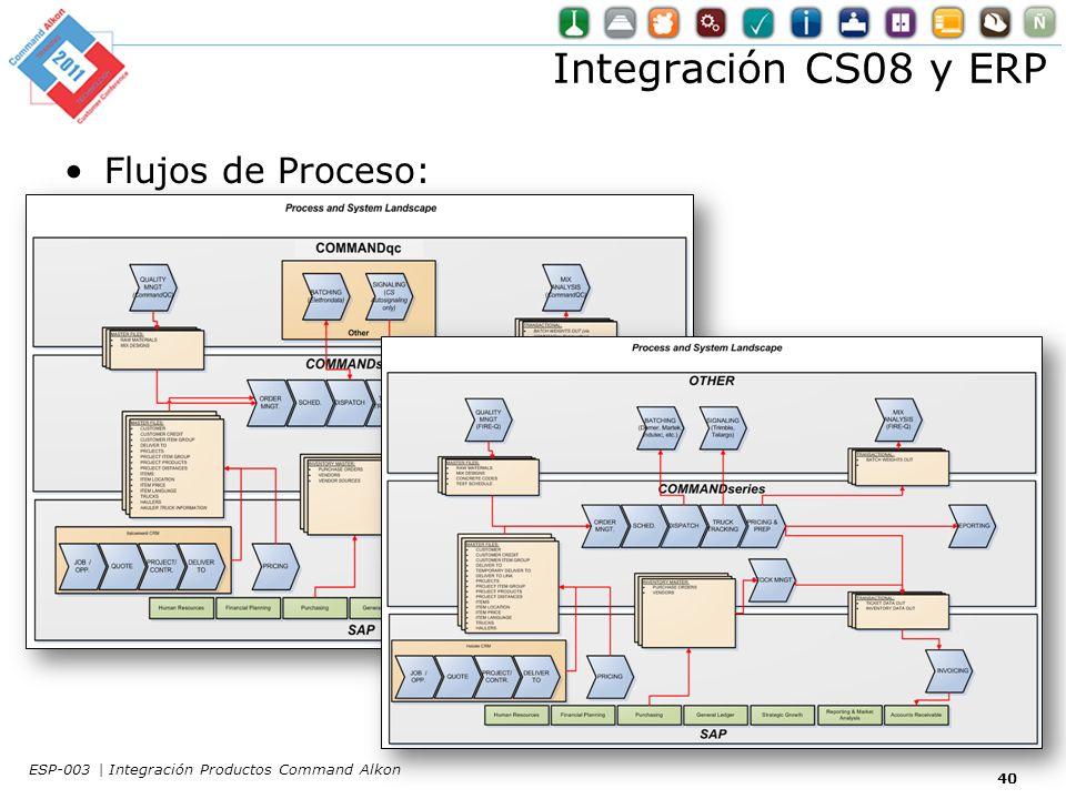 Integración CS08 y ERP Flujos de Proceso: