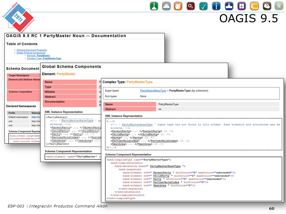 OAGIS 9.5 ESP-003 | Integración Productos Command Alkon