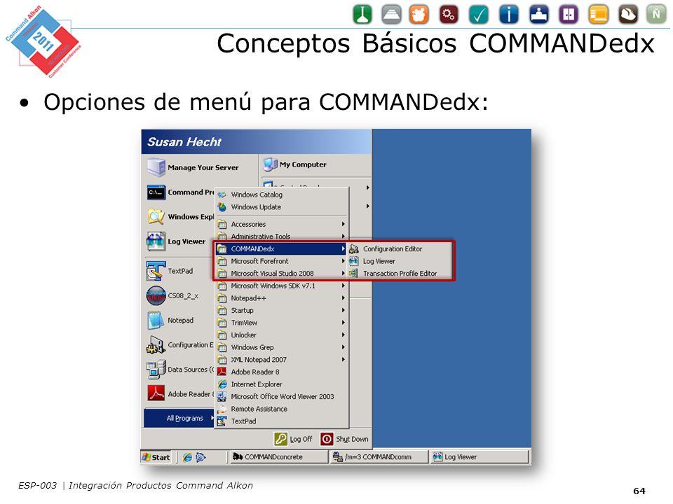 Conceptos Básicos COMMANDedx