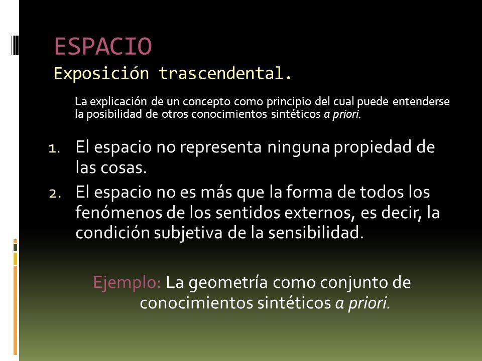 ESPACIO Exposición trascendental.