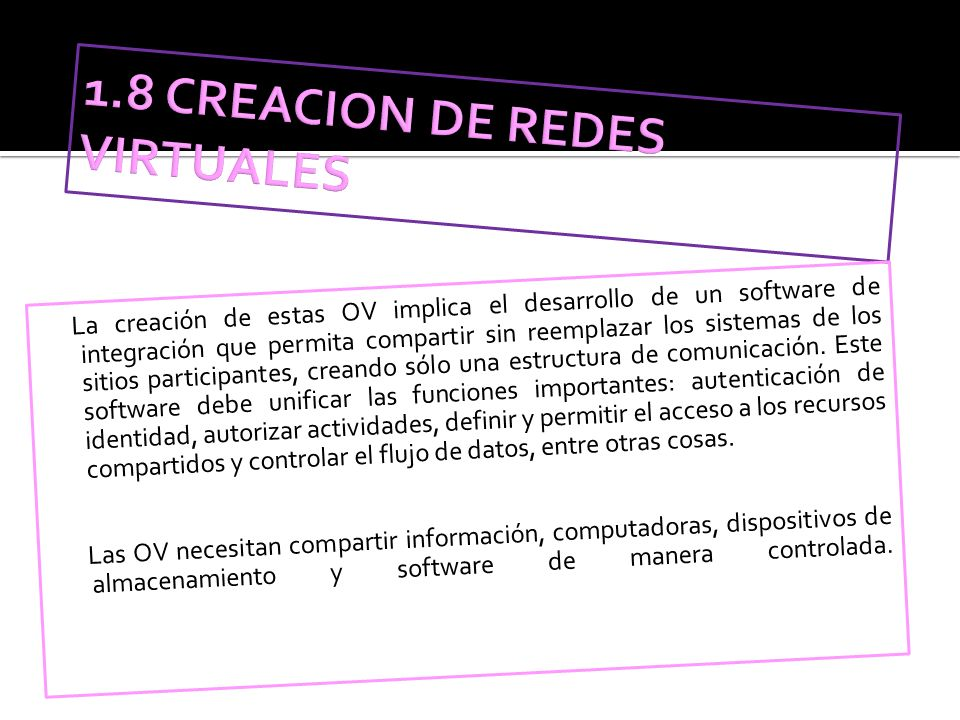 1.8 CREACION DE REDES VIRTUALES