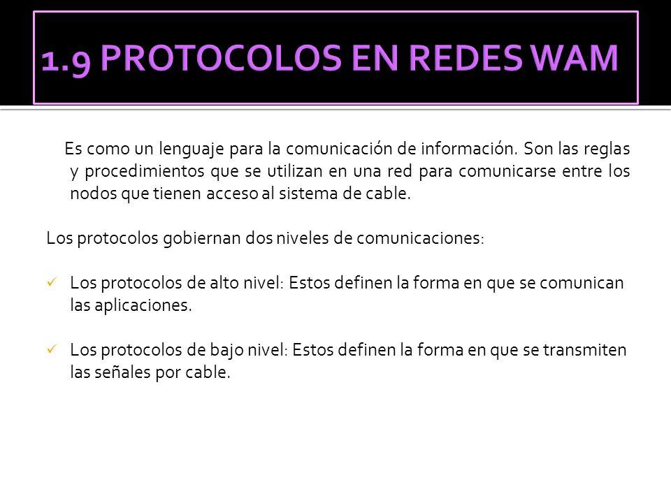 1.9 PROTOCOLOS EN REDES WAM