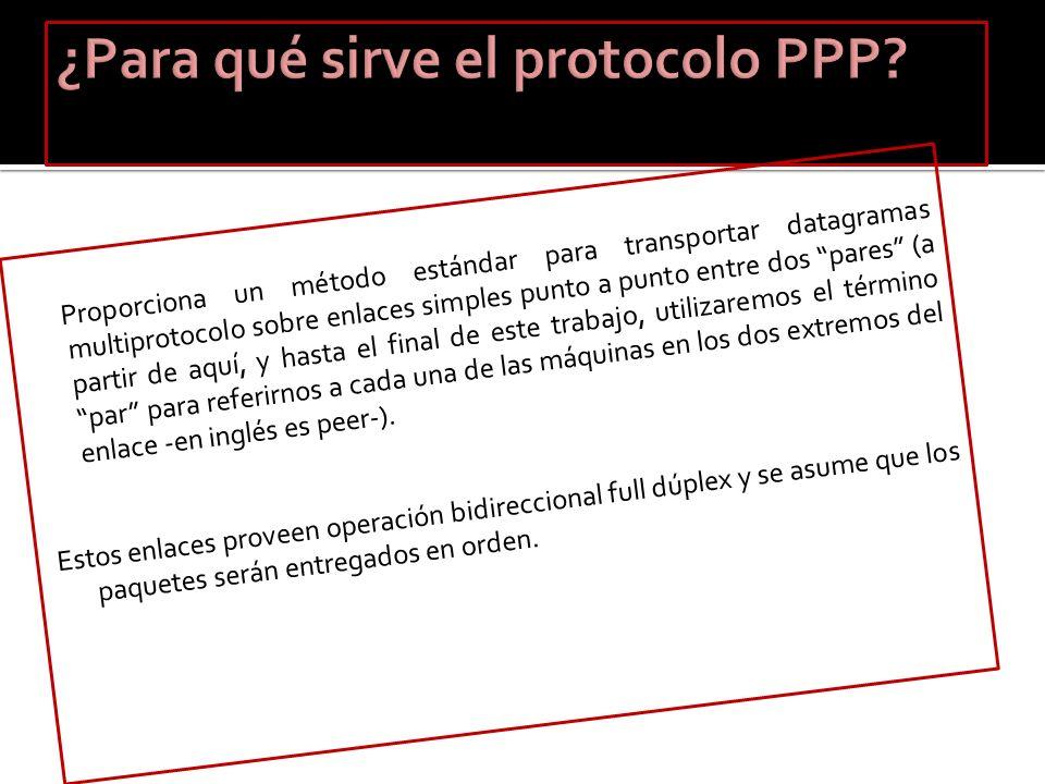 ¿Para qué sirve el protocolo PPP