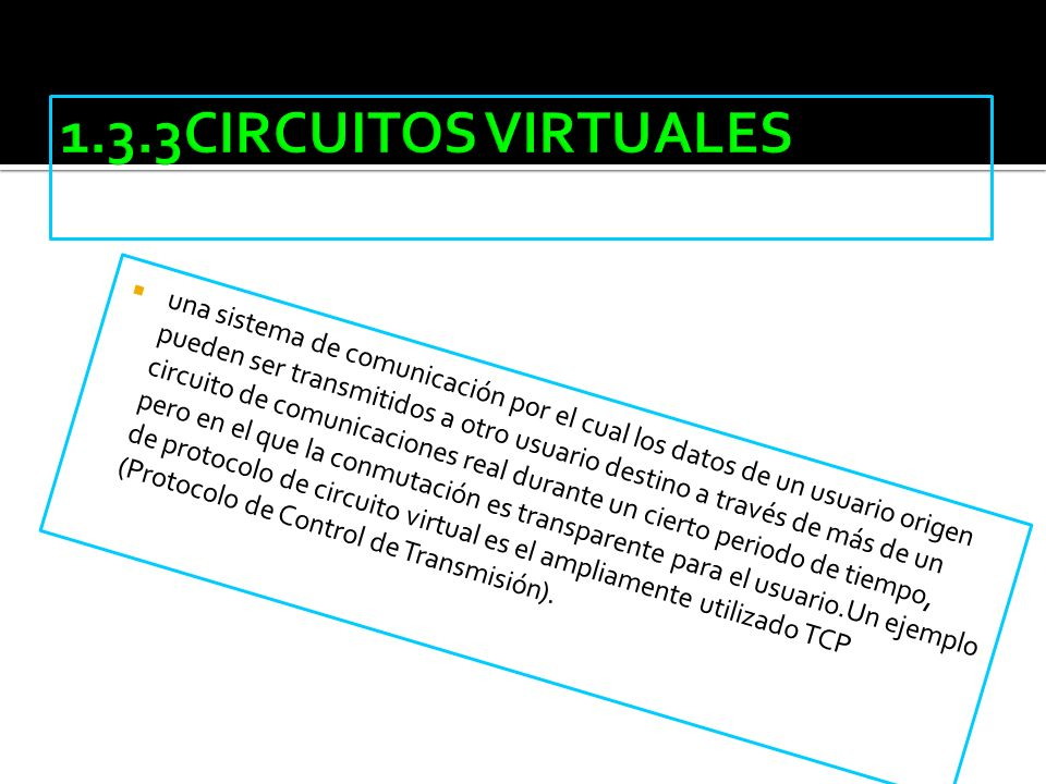 1.3.3CIRCUITOS VIRTUALES