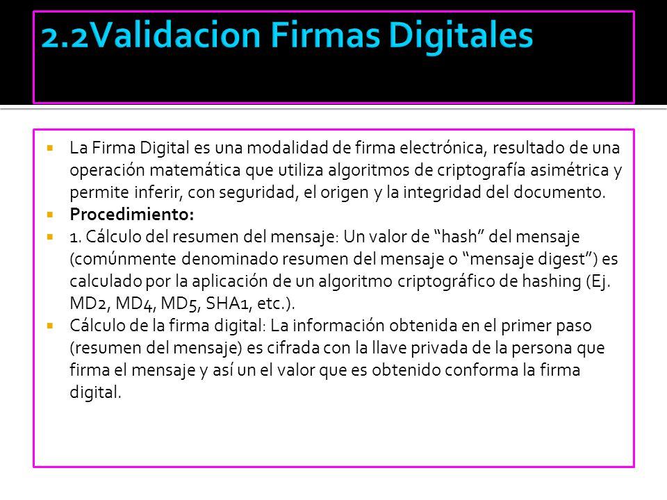 2.2Validacion Firmas Digitales