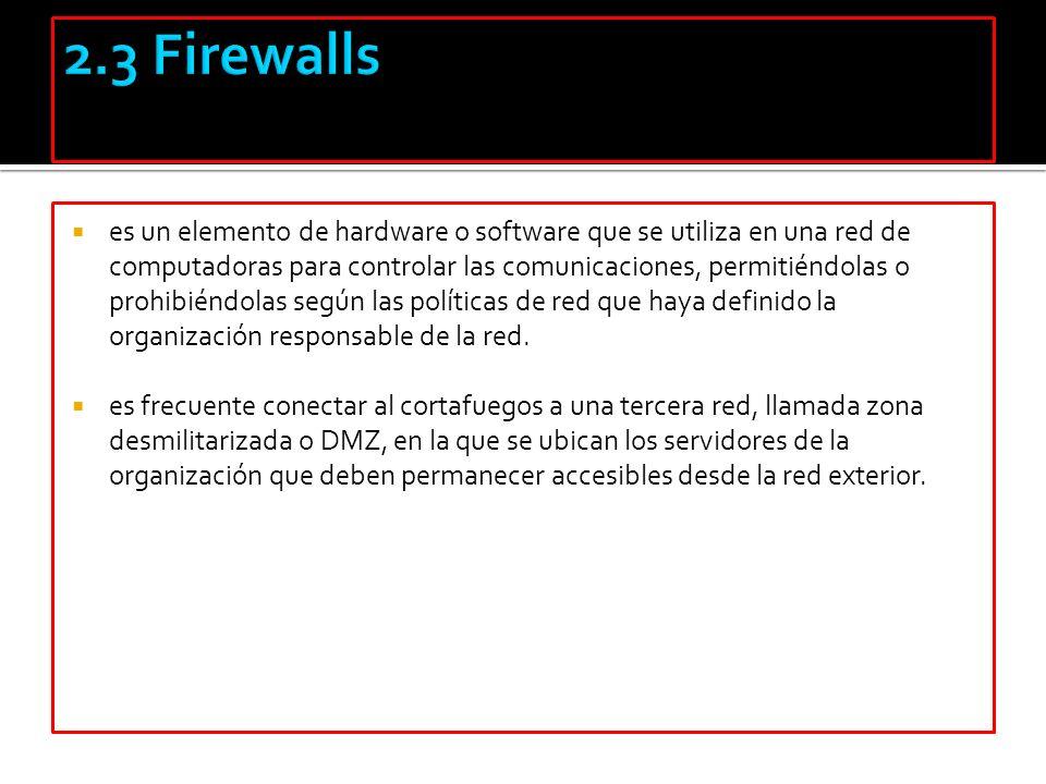 2.3 Firewalls