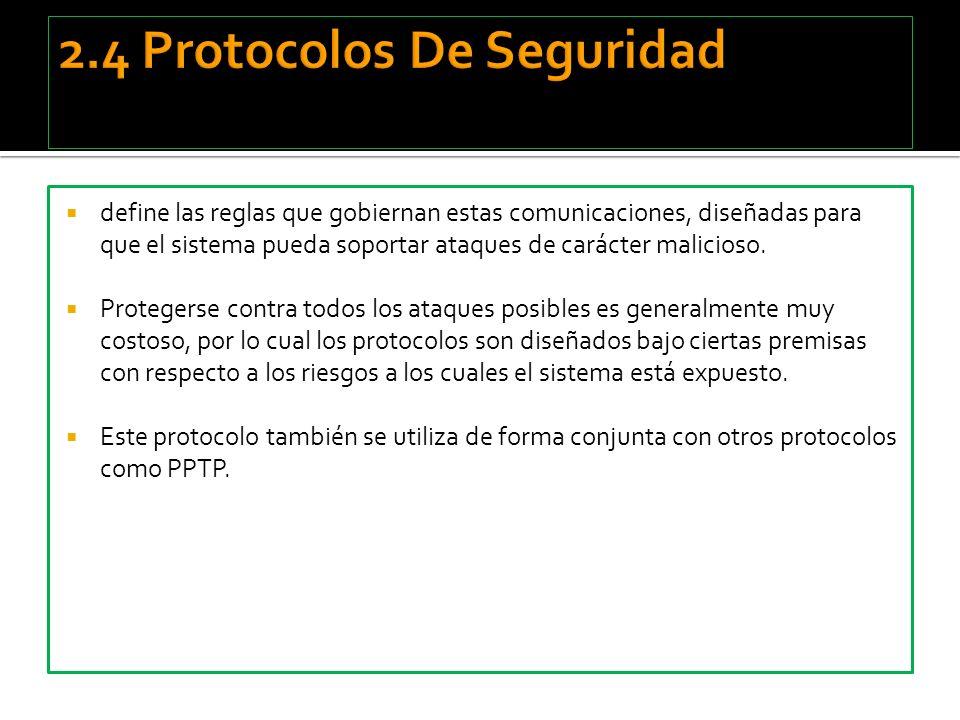 2.4 Protocolos De Seguridad