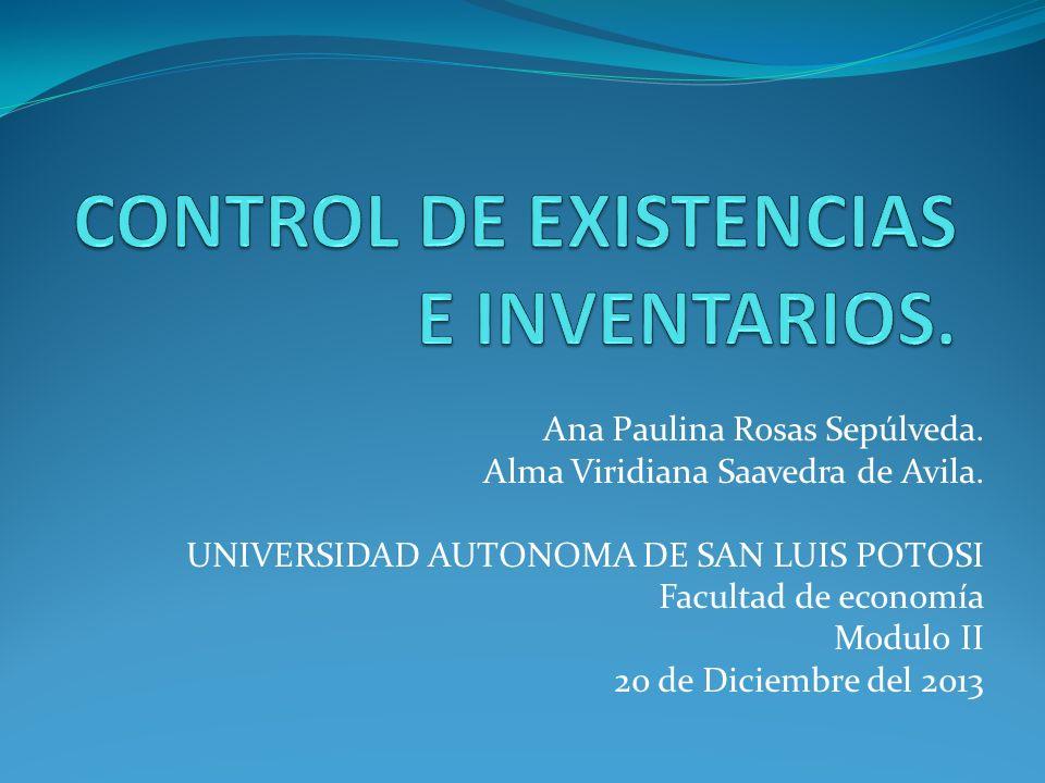 CONTROL DE EXISTENCIAS E INVENTARIOS.