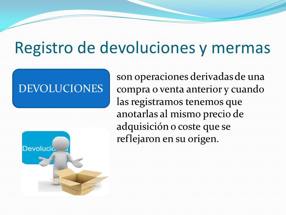 Registro de devoluciones y mermas