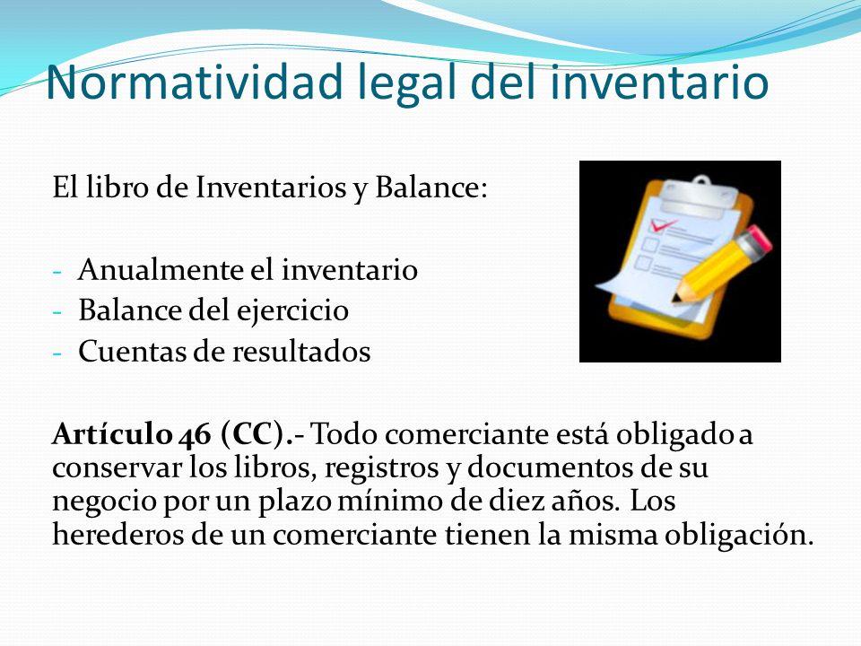 Normatividad legal del inventario