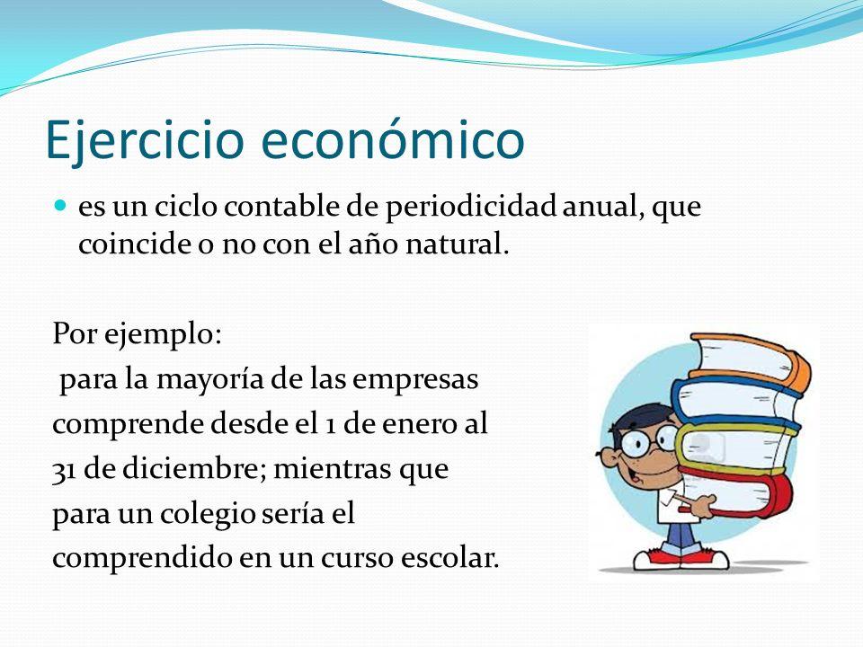 Ejercicio económico es un ciclo contable de periodicidad anual, que coincide o no con el año natural.