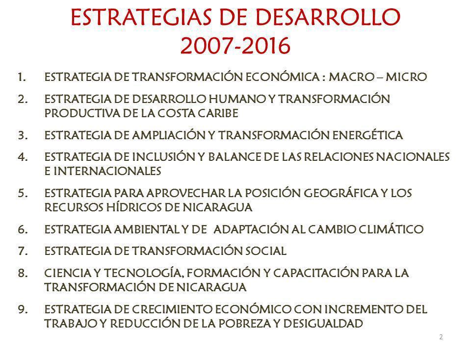 ESTRATEGIAS DE DESARROLLO 2007-2016