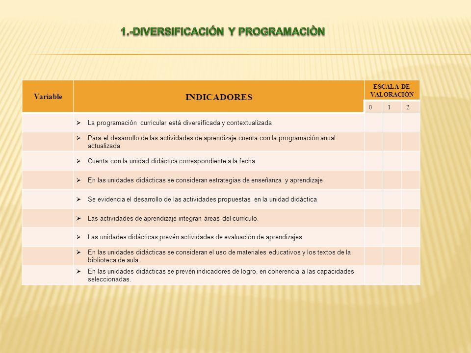 1.-DIVERSIFICACIÓN Y PROGRAMACIÒN