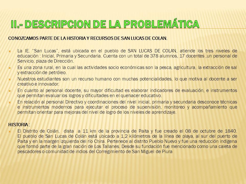 II.- DESCRIPCION DE LA PROBLEMÁTICA