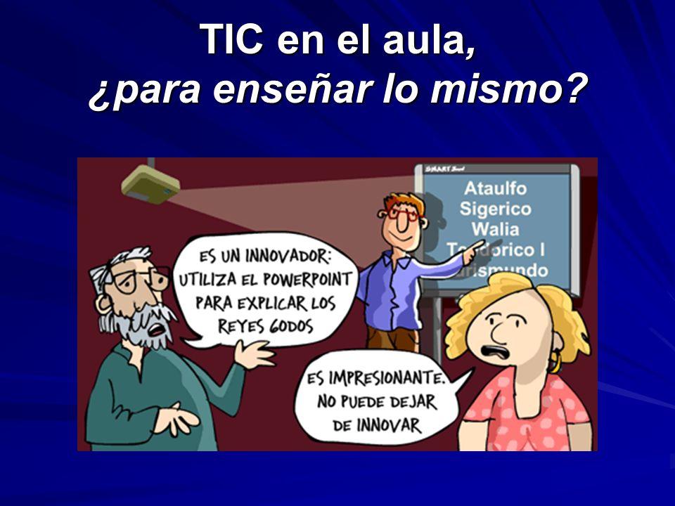 TIC en el aula, ¿para enseñar lo mismo