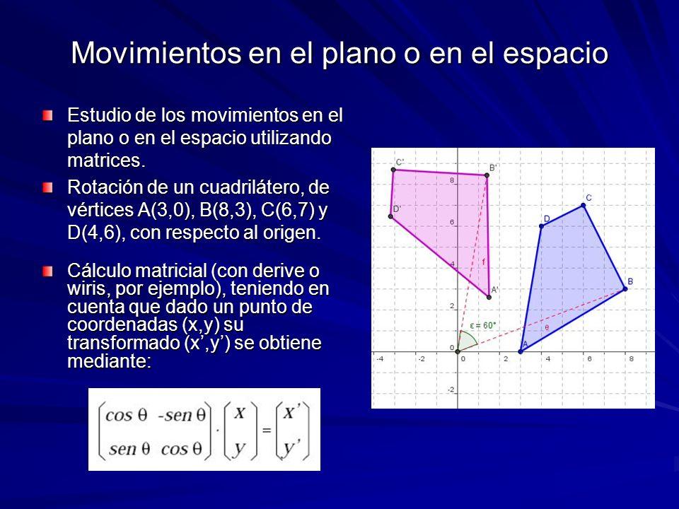 Movimientos en el plano o en el espacio