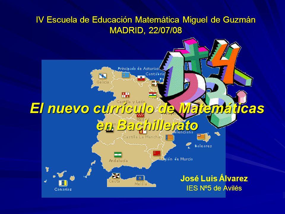 El nuevo currículo de Matemáticas en Bachillerato