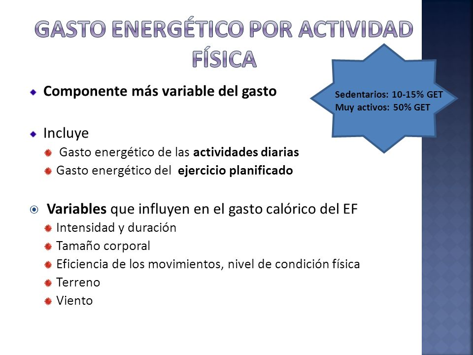 Gasto energético por actividad física