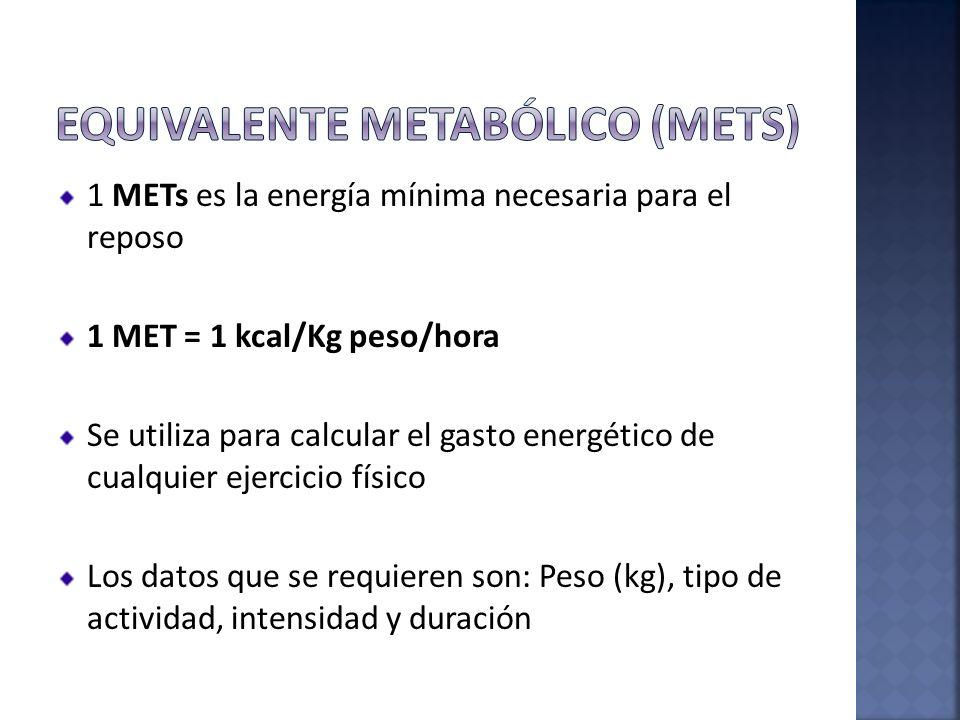 Equivalente metabólico (MEtS)