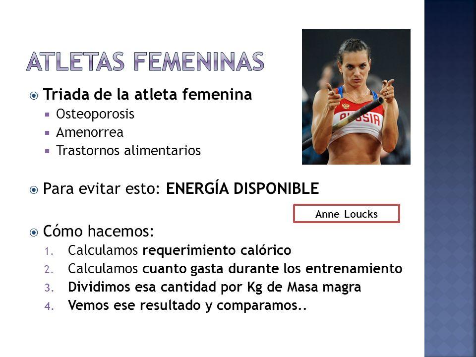 Atletas femeninas Triada de la atleta femenina