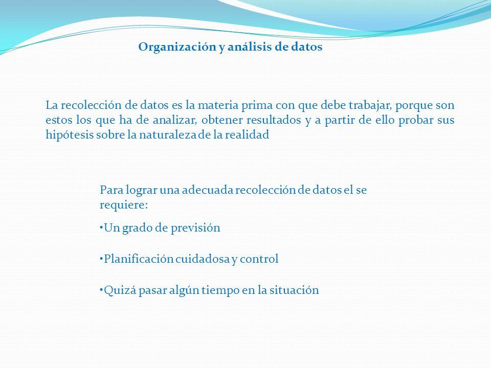 Organización y análisis de datos