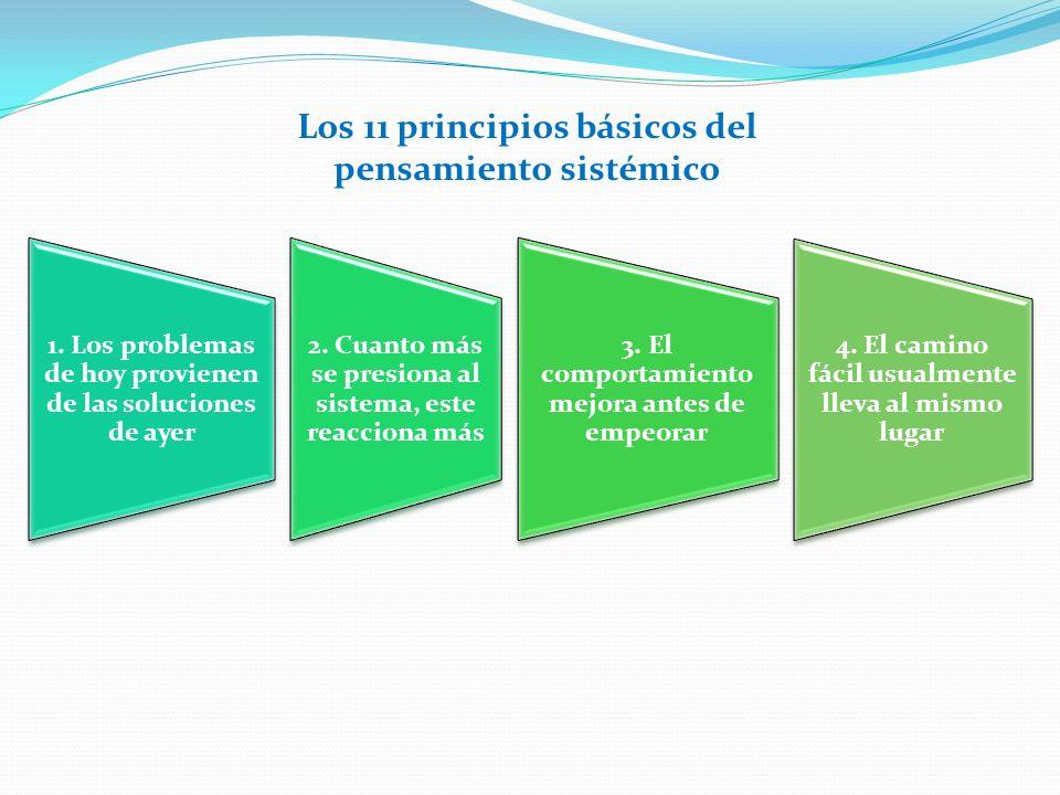 Los 11 principios básicos del pensamiento sistémico