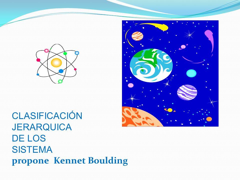 CLASIFICACIÓN JERARQUICA DE LOS SISTEMA propone Kennet Boulding