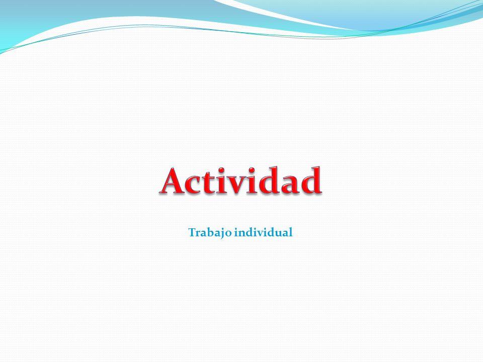 Actividad Trabajo individual