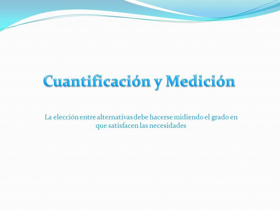 Cuantificación y Medición