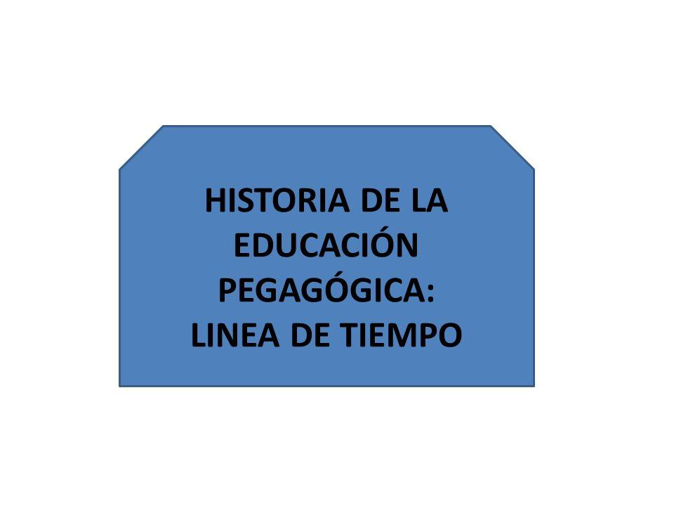HISTORIA DE LA EDUCACIÓN PEGAGÓGICA: